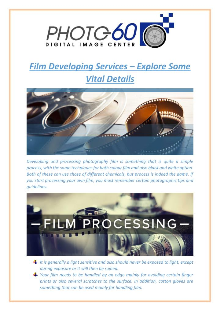 Film Developing Services