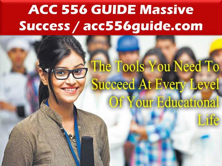 ACC 556 GUIDE Massive Success / acc556guide.com