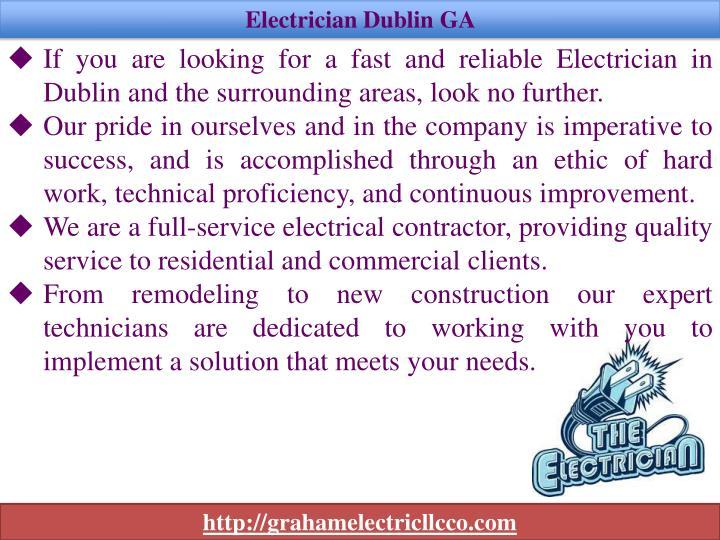 Electrician Dublin GA