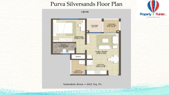 Purva Silversands Floor Plan