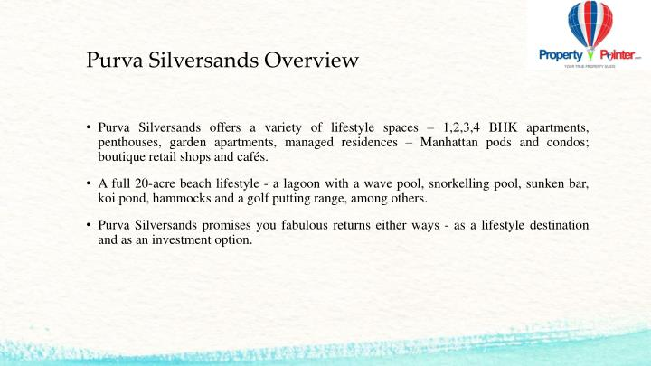 Purva Silversands Overview
