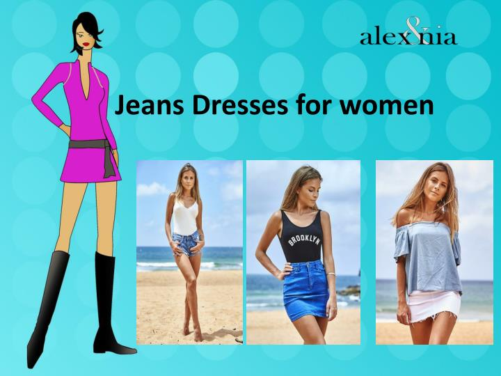 Jeans dresses for women