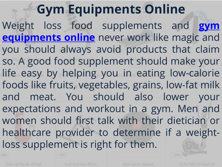 Gym equipments online