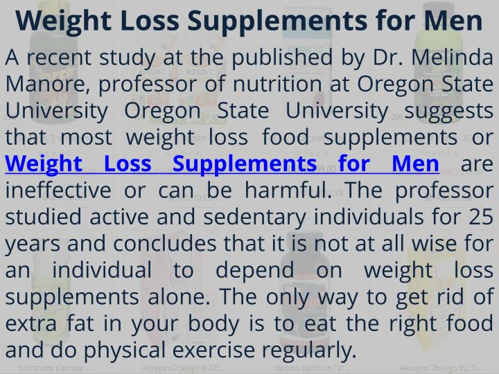 Weight loss supplements for men
