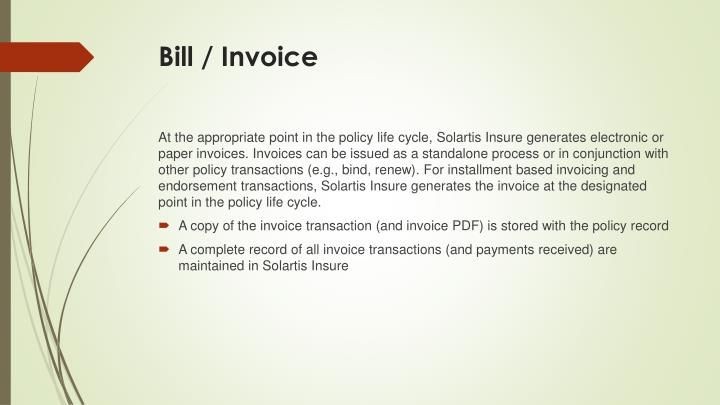 Bill / Invoice