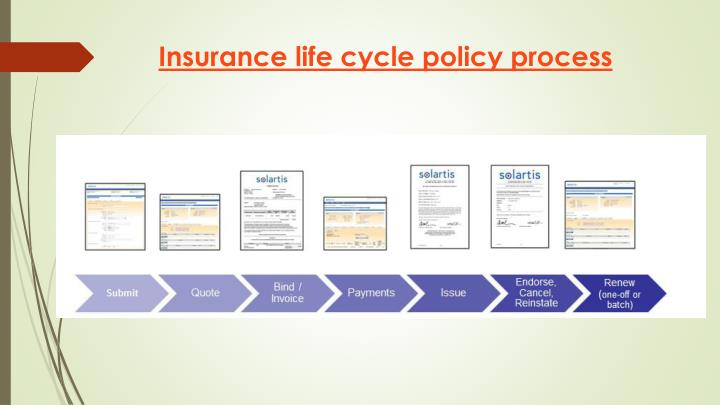 Insurance life cycle policy process