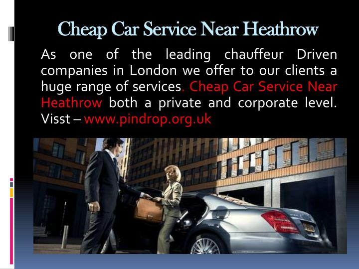 Cheap Car Service Near Heathrow