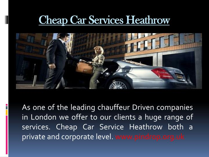 Cheap Car Services Heathrow
