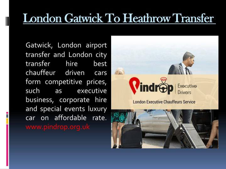 London Gatwick To Heathrow Transfer