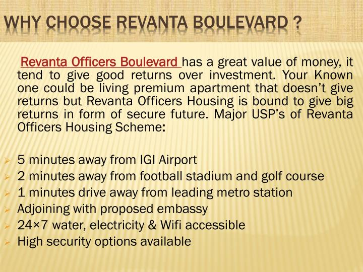 Why choose revanta boulevard