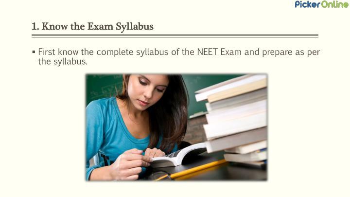 1. Know the Exam Syllabus