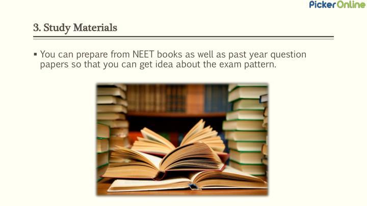 3. Study Materials