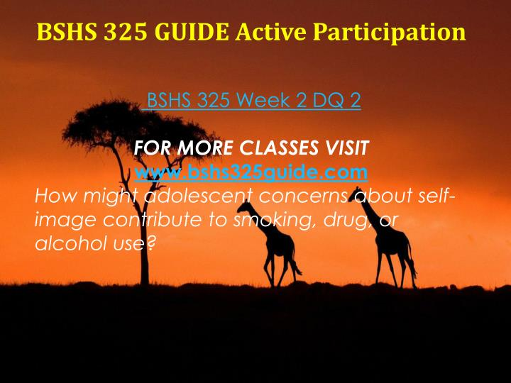 BSHS 325 GUIDE Active Participation