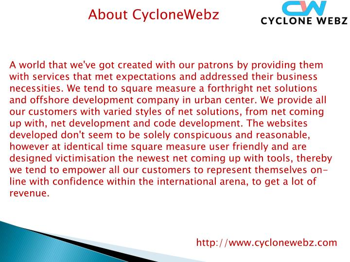 About CycloneWebz