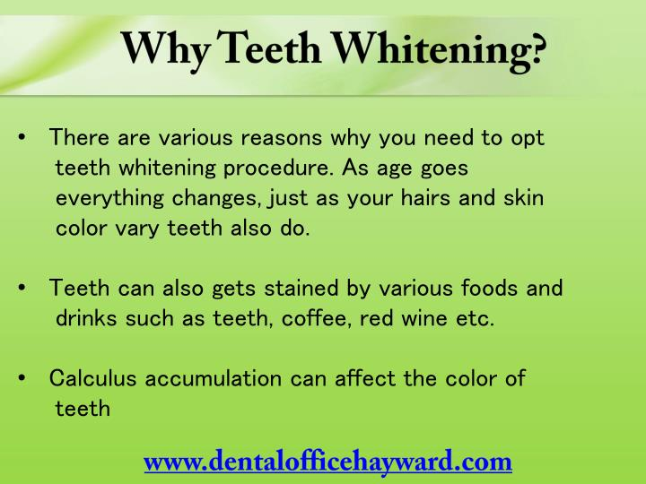 Why Teeth Whitening?