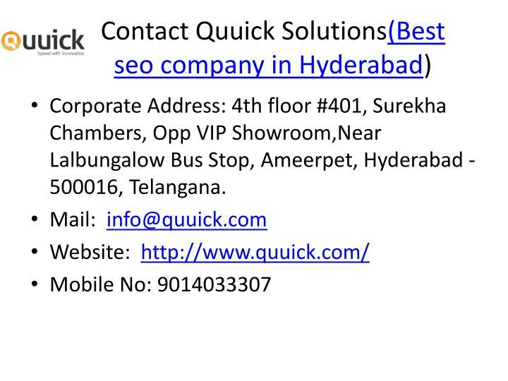 Contact Quuick Solutions