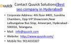 contact quuick solutions best seo company in hyderabad