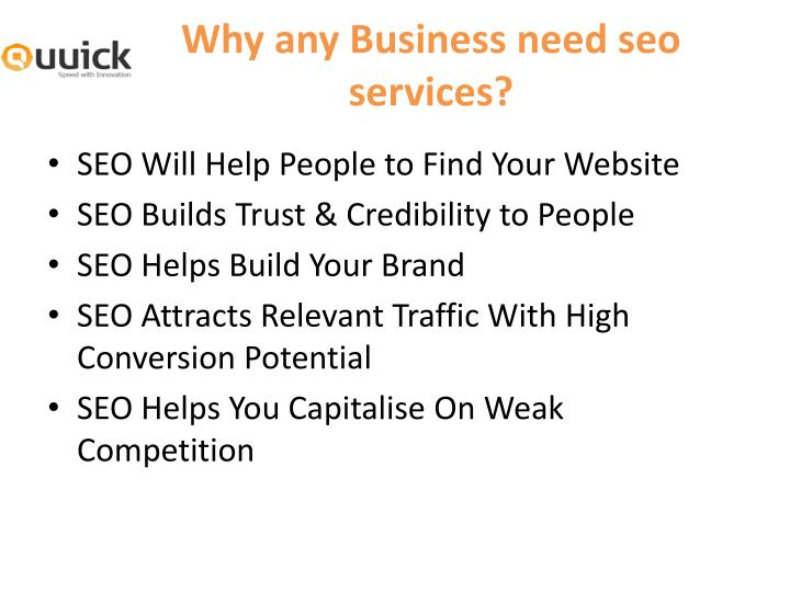 Why any Business need seo services?