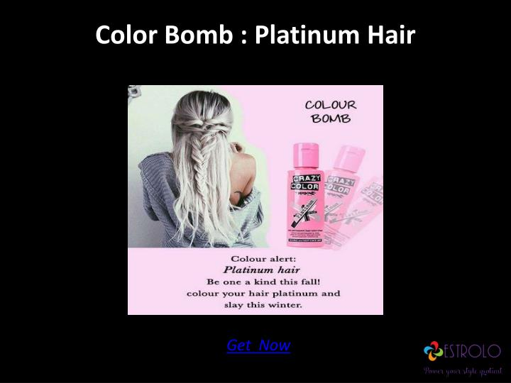 Color Bomb : Platinum Hair