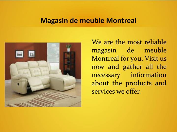 Magasin de meuble Montreal