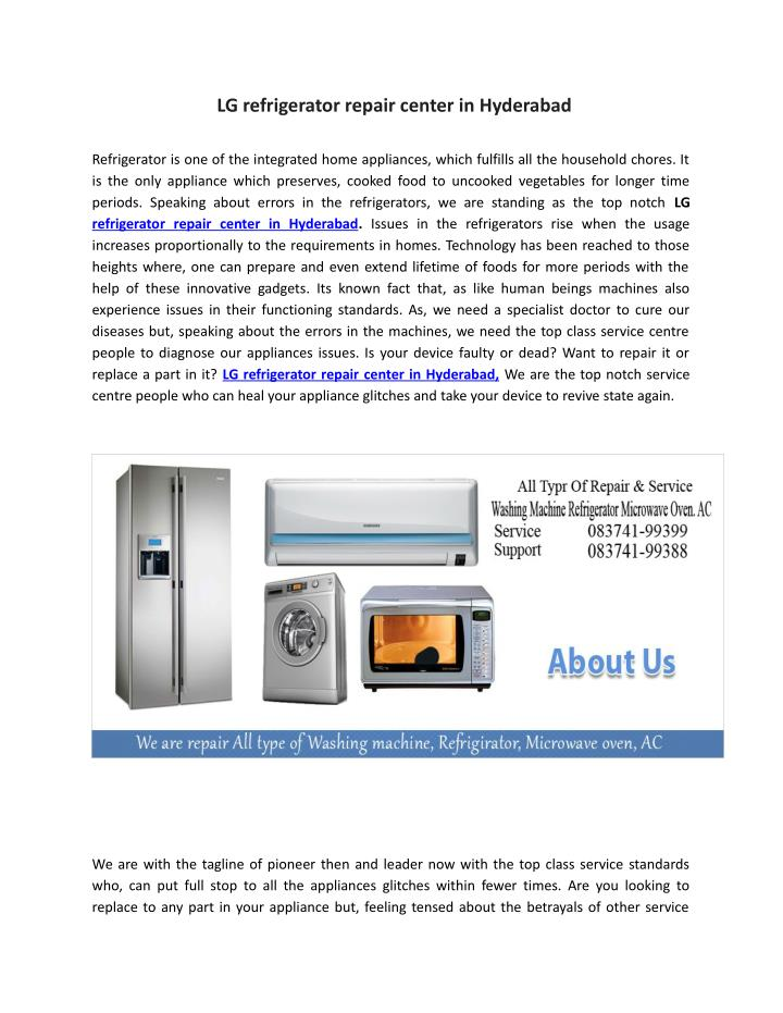 LG refrigerator repair center in Hyderabad