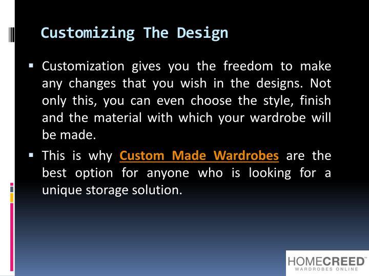 Customizing The Design