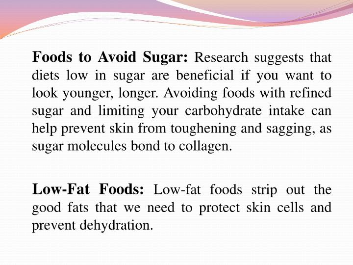 Foods to Avoid Sugar: