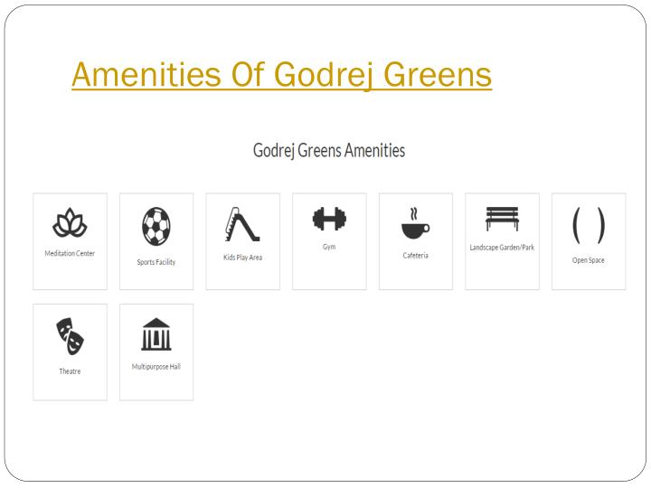 Amenities Of Godrej Greens
