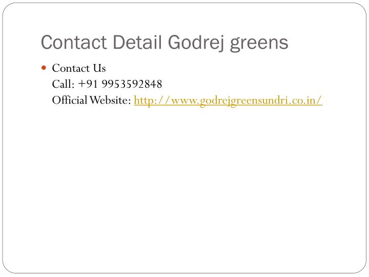 Contact Detail Godrej greens