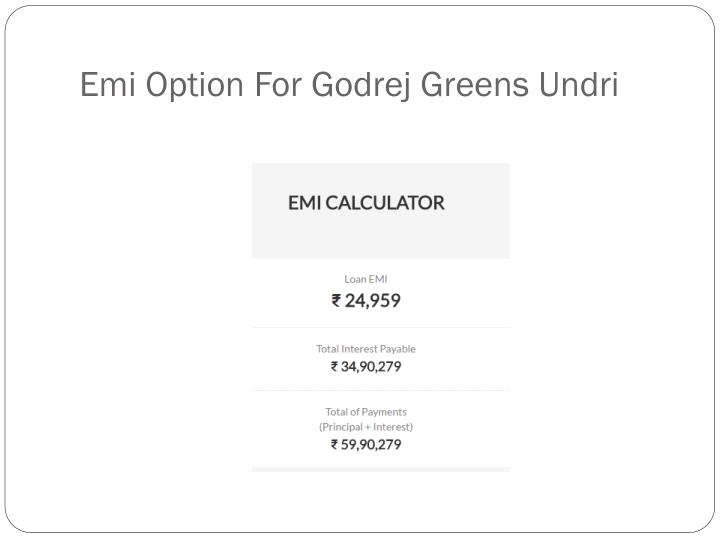 Emi Option For Godrej Greens