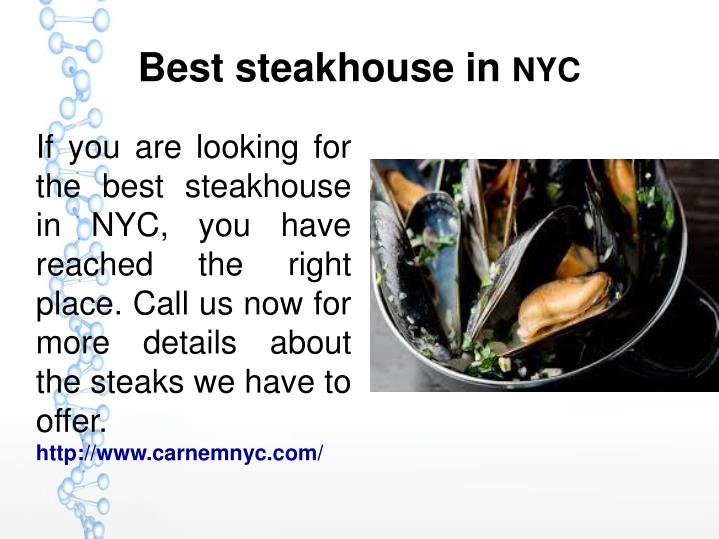 Best steakhouse in