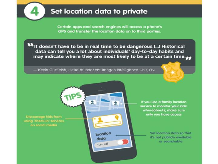 Set location data to private