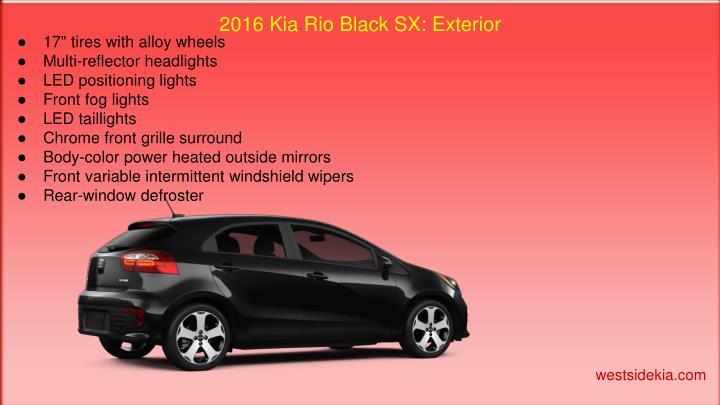 2016 Kia Rio Black SX: Exterior