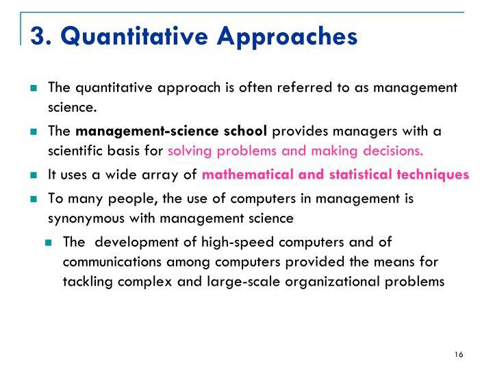 3. Quantitative Approaches