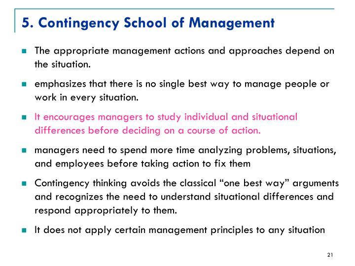 5. Contingency