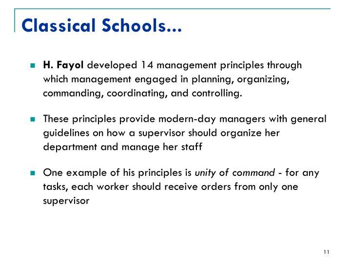 Classical Schools...