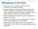 management in the future