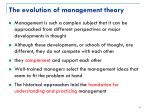 the evolution of management theory1