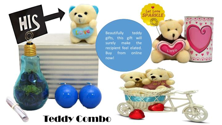 Beautifully teddy gifts, this gift will surely make the recipient feel elated. Buy from online now!