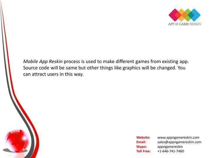 Mobile App Reskin