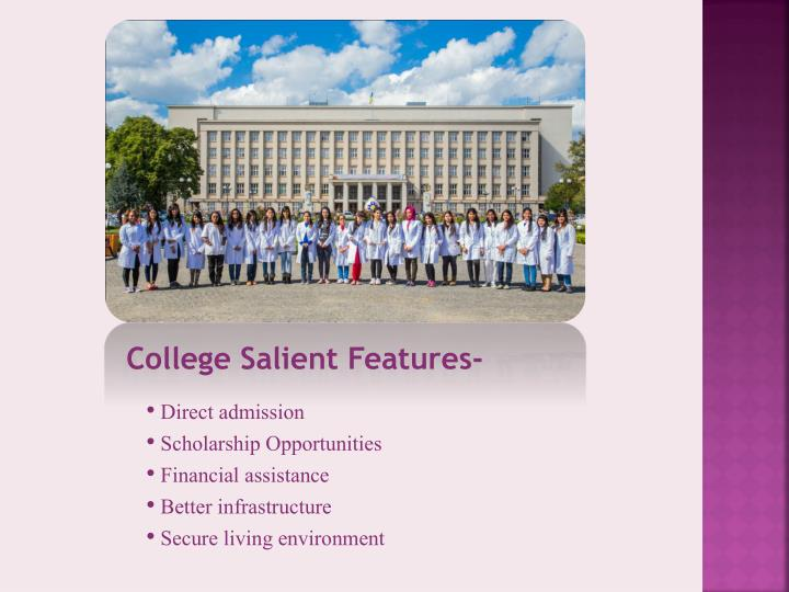 College Salient Features-