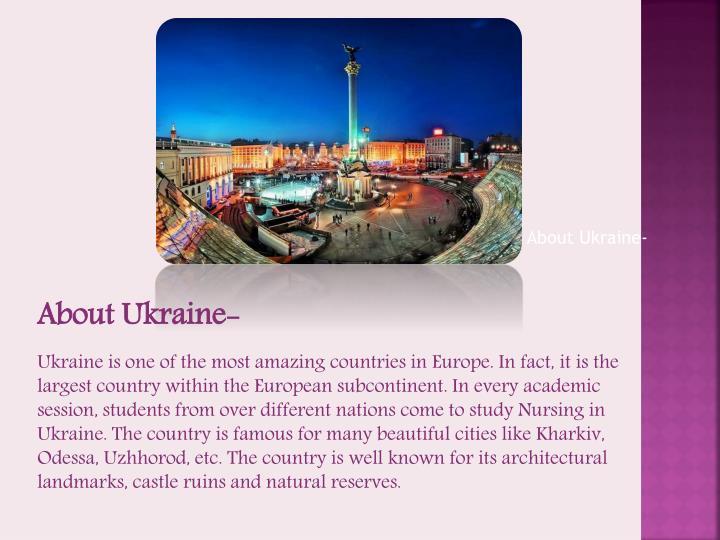 About Ukraine-