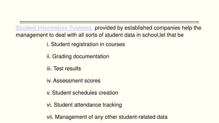 Student Information Systems