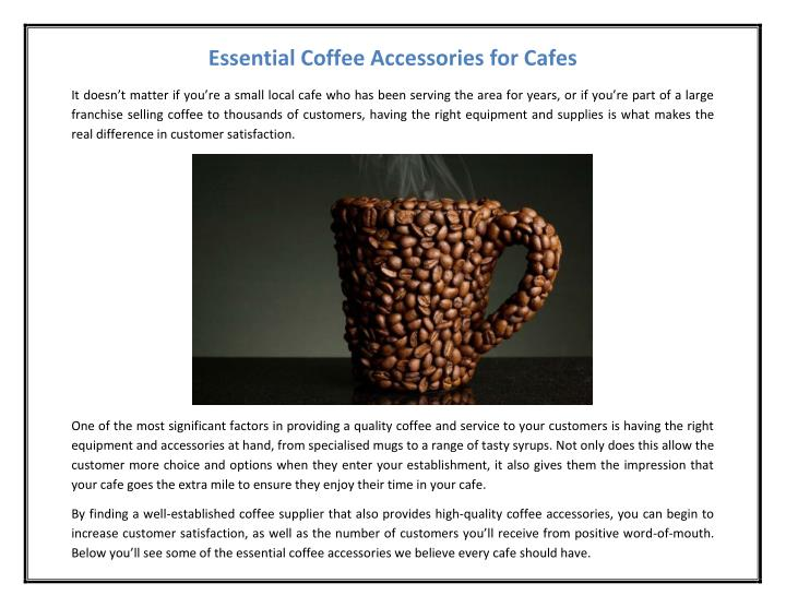 Essential Coffee Accessories for Cafes