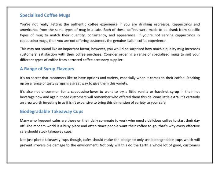 Specialised Coffee Mugs