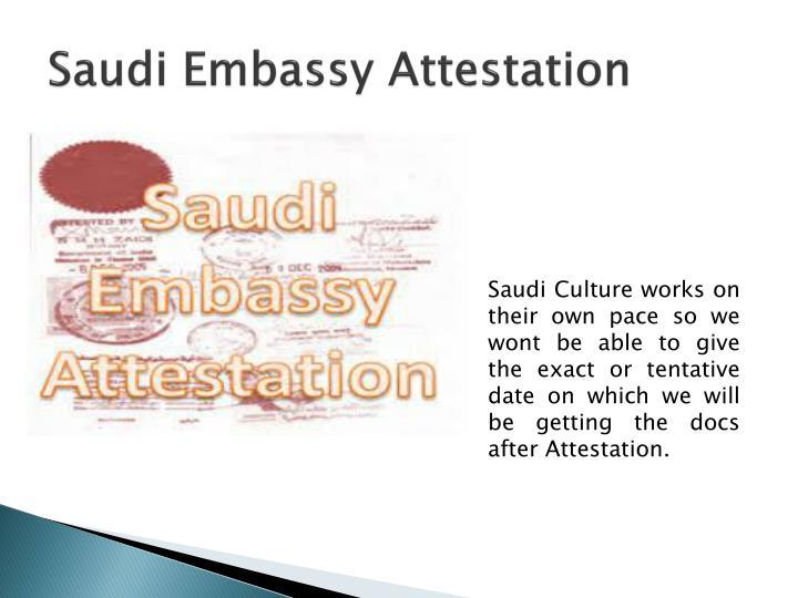 Saudi Embassy Attestation