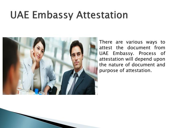 UAE Embassy Attestation