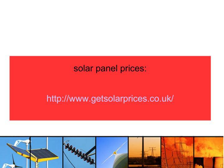 solar panel prices: