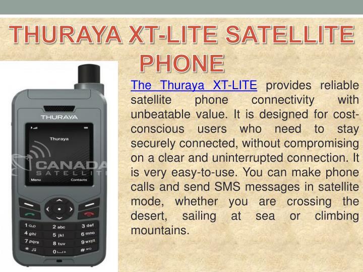 THURAYA XT-LITE SATELLITE