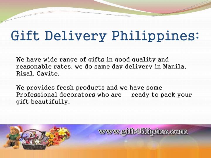 Gift Delivery Philippines: